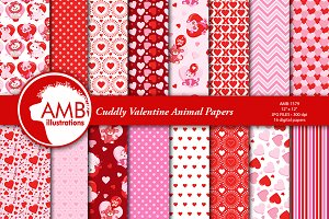 Valentine Animal Papers AMB-1579
