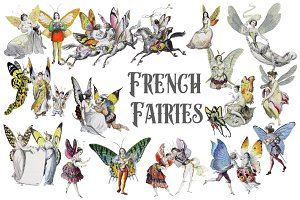 Vintage French Fairies illustrations