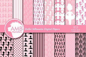 Ballerina Silhouette papers AMB-1585