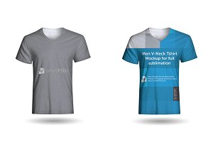 Men V-Neck T-Shirt Sublimation