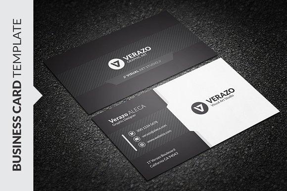 Black white business card business card templates creative market friedricerecipe Choice Image