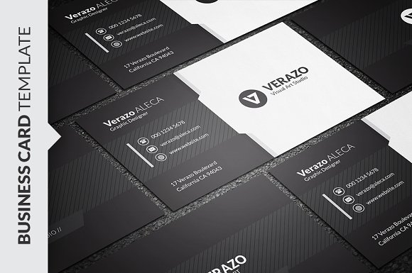 black white business card business card templates creative market