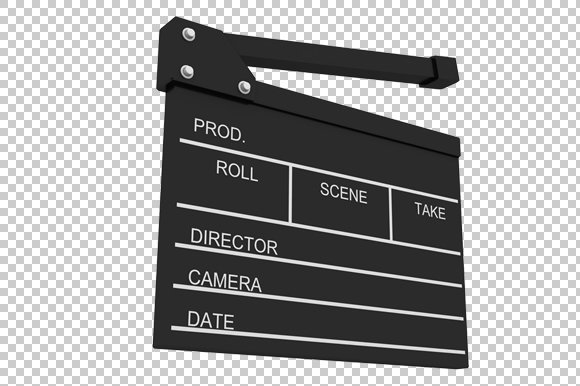 movie take board 3d render png graphics creative market