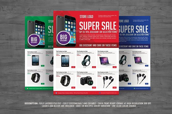 multiporpuse product sales flyer flyer templates creative market