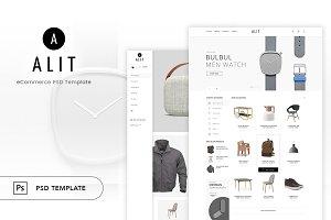 Alit - Minimalist eCommerce PSD