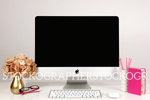Styled Stock Imac Keyboard Mockup