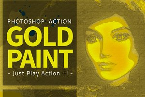 Gold Paint Photo Effect