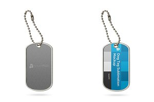Dog Tag Mockup for Sublimation