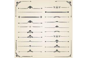 Vintage Vector Set of Horizontal Elements