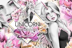 Unicorn Girl Clipart