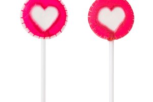 Two lollipop with heart
