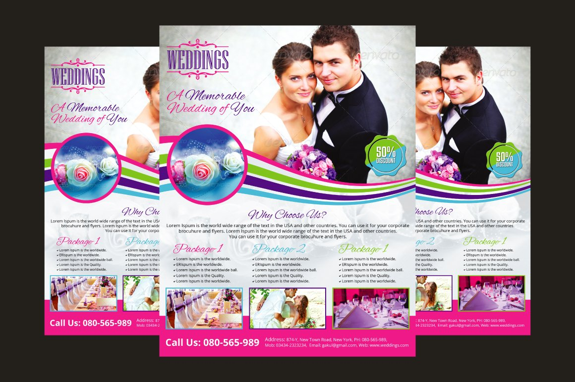 wedding event planner flyer flyer templates creative market