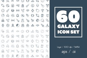 60 Galaxy Icon Set