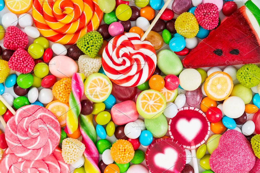 colorful candies and lollipops food images creative market