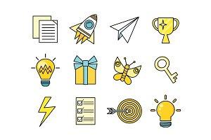 Idea Generation Icon Set