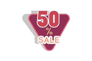 Sale Sticker Vector Illustration in Flat Design