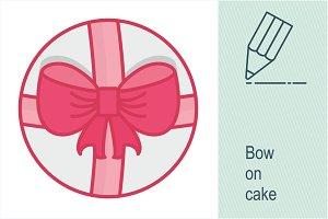 Bow on cake