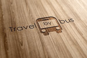 Travel by bus Logo Design