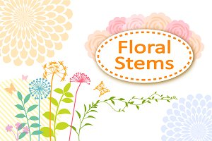Floral stems set