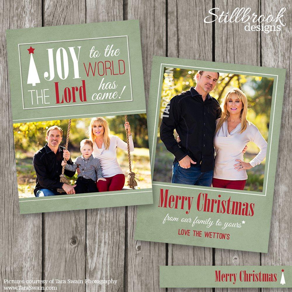 Christian Christmas Card Template ~ Card Templates ~ Creative Market