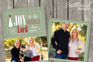 Christian Christmas Card Template