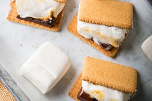 Home made smore marshmallow treat for kids