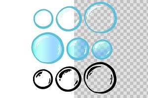 Isolated Soap Bubbles Set