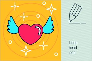 Lines heart icon