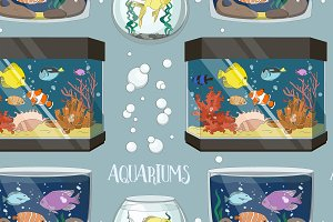 Glass Aquarium Set pattern