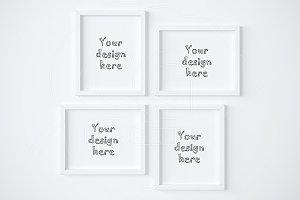Collage set x4 styled frames mockup
