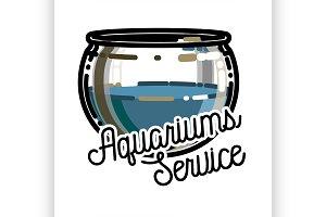 aquariums service emblem