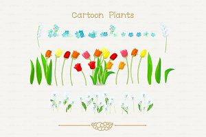 ♥ vector different flowers