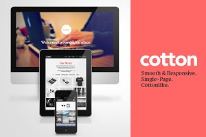 Cotton - Responsive HTML Single Page