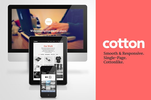 Cotton - Responsive HTML Single Pag…