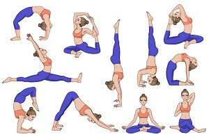 26 Yoga poses. Part 1