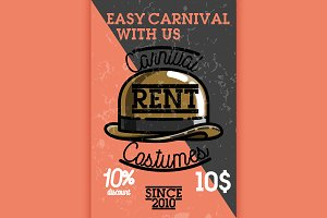 carnival costumes rent banner