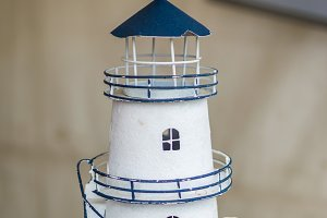 White decorative lighthouse
