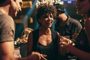 Woman enjoying at nightclub