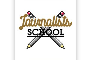 journalists school emblem