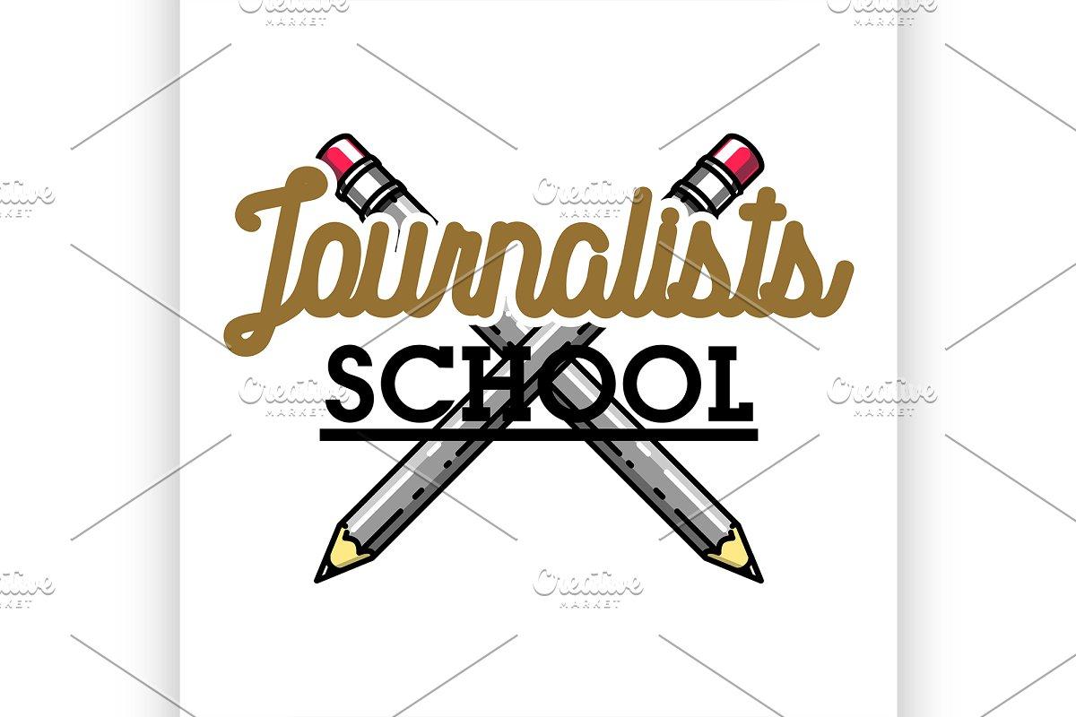 journalists school emblem in Illustrations