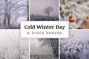 Cold Winter Day – 6 Stock Photos