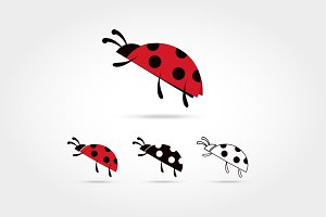 set of the ladybug logo icon