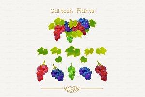 ♥ vector grapes