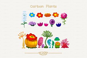 ♥ vector zoophytes & flowers