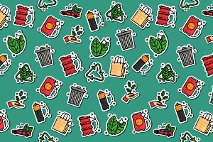 Colored recycling pattern