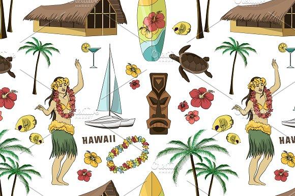 Hawaiian Hawaii Set Pattern