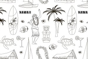 Hawaiian, Hawaii Set pattern