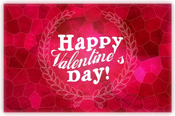 Happy Valentines day Postcard Card Templates on Creative Market – Valentines Day Post Cards
