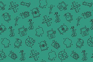 Hobby icon pattern