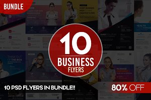 BUNDLE: 10 PSD Business Flyers